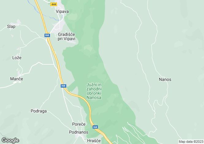 Map for Ajdovscina, Podnanos