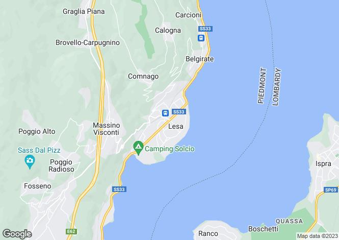 Map for Piedmont, Novara, Lesa