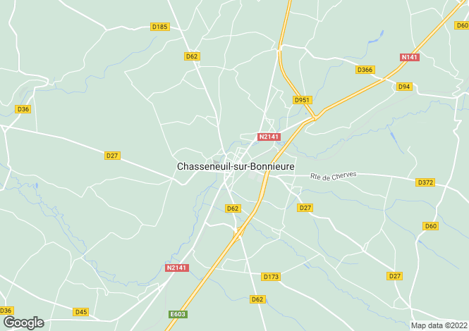 Map for Secteur: Angoulême, Charente