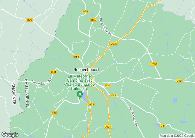 Map for rochechouart, Haute-Vienne, France
