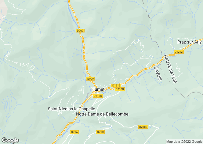 Map for Flumet, 73590, France