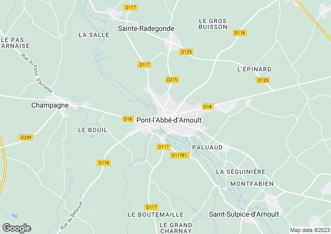 Map for Secteur: Pont-l'Abbe-d'Arnoult, Charente-Maritime