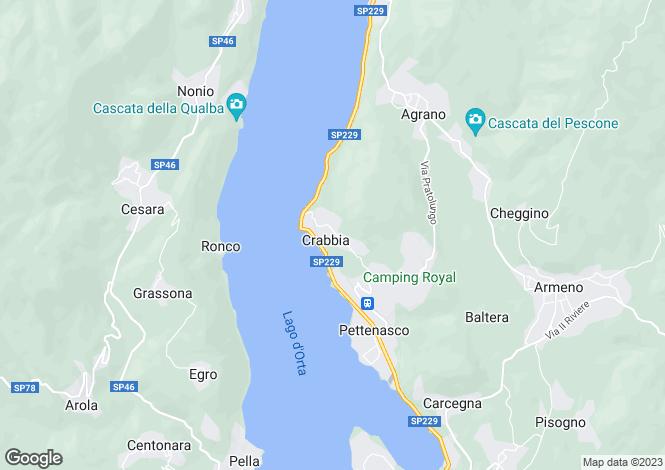 Map for Crabbia, Novara, Italy