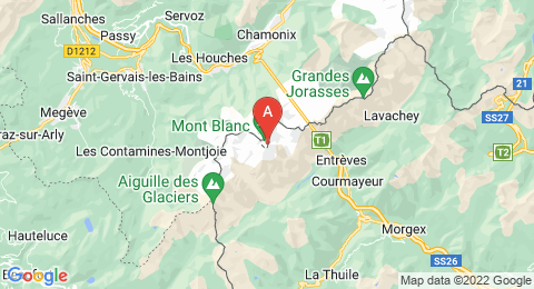 map of Mont Blanc de Courmayeur (Italy)