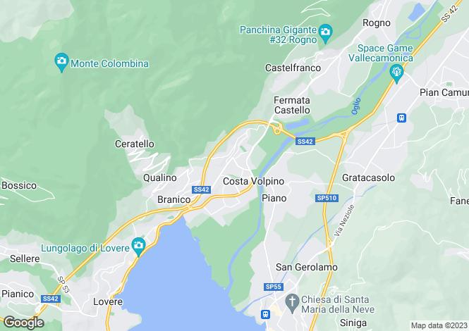 Map for Costa Volpino, Bergamo, Lombardy