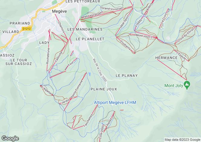 Map for Megève, Haute-Savoie, Rhone Alps