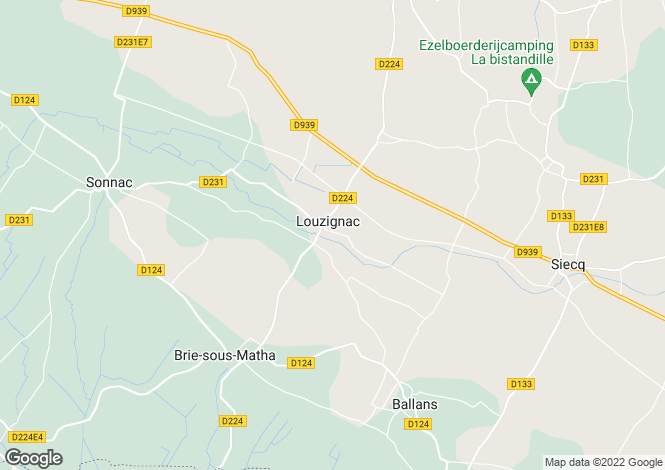 Map for louzignac, Charente-Maritime, France