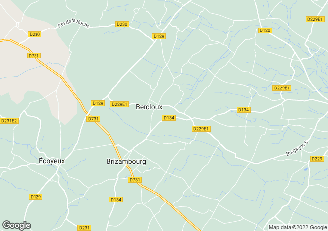 Map for bercloux, Charente-Maritime, France