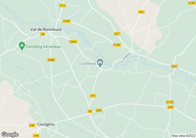 Map for ste-colombe, Charente, France