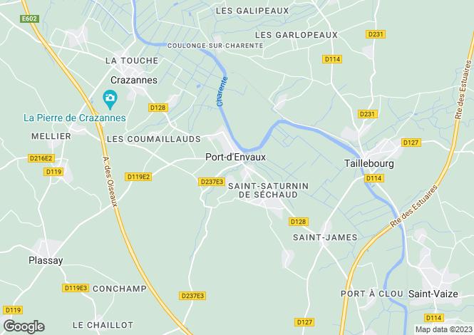 Map for port-d-envaux, Charente-Maritime, France