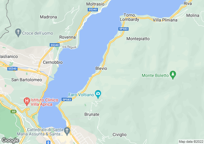 Map for Lake Como (Lago di Como), Como, Lombardy