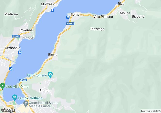 Map for Faggeto Lario, 22020, Italy