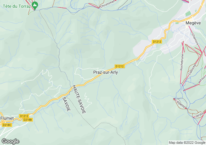 Map for Praz sur Arly, Haute Savoie, France, 74120