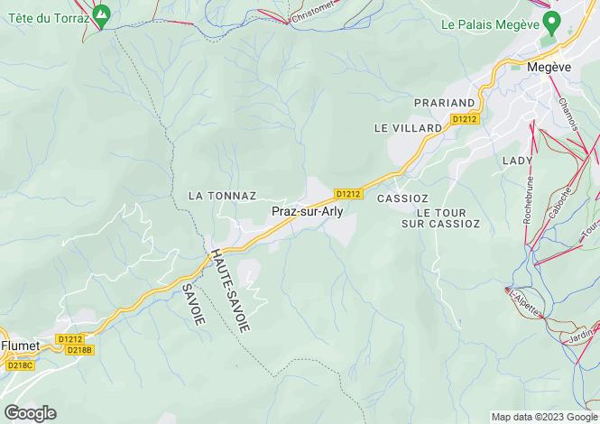 Map for Praz sur Arly, Haute Savoie, France, 74120