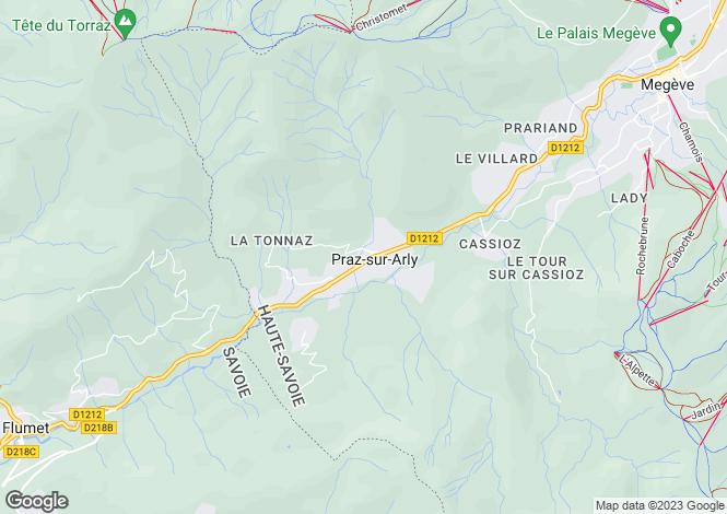 Map for Rhone Alps, Haute-Savoie, Praz-sur-Arly
