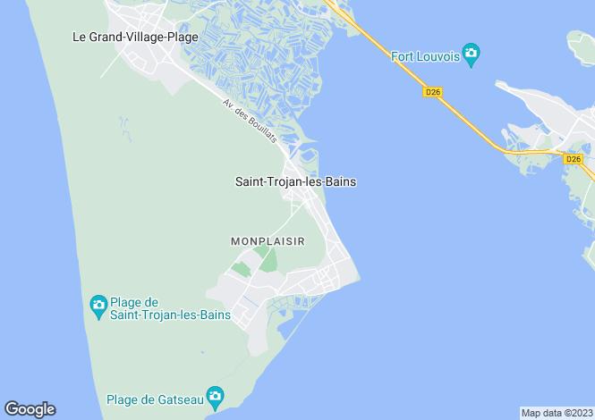 Map for st-trojan-les-bains, Charente-Maritime, France