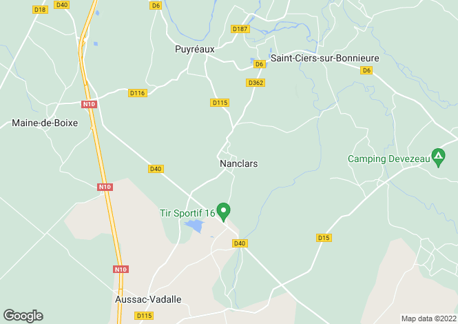 Map for Mansle, Poitou-Charentes, 16230, France