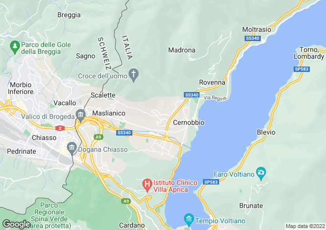 Map for Cernobbio, Como, Italy