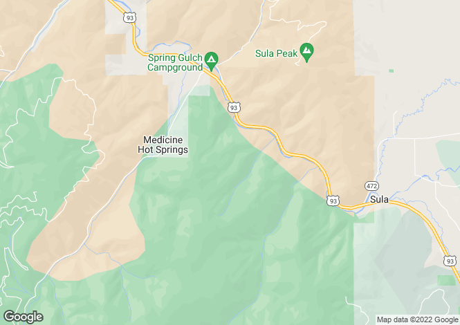Map for USA - Montana, Ravalli County, Conner
