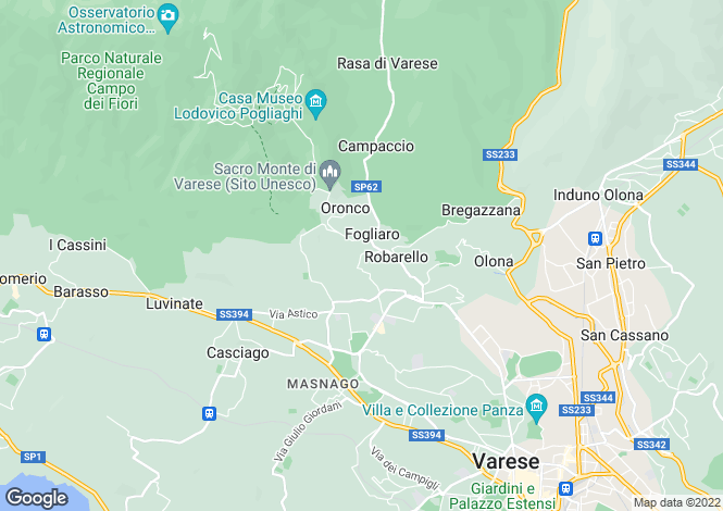 Map for Lombardy, Varese, Varese
