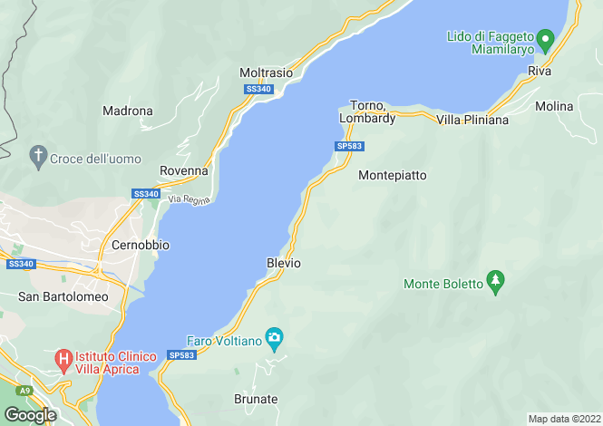Map for Lombardy, Como, Blevio