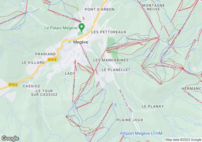 Map for Rhone Alps, Haute-Savoie