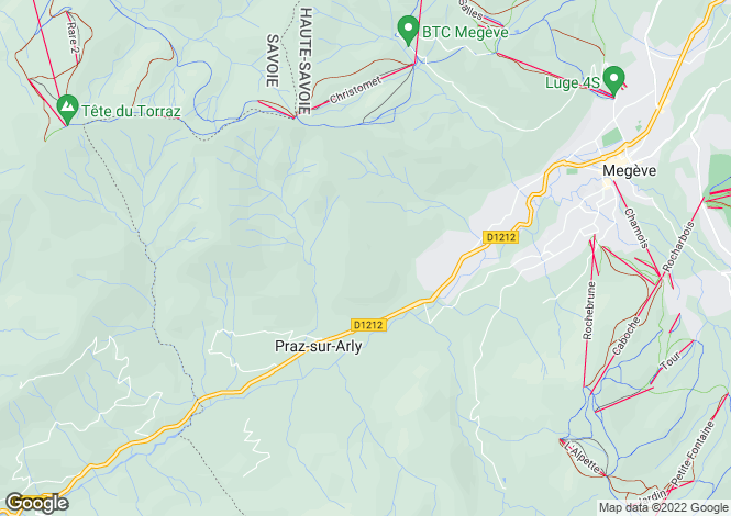 Map for Praz-sur-Arly, 74120, France