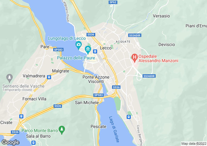 Map for Lecco, Lecco, Lombardy