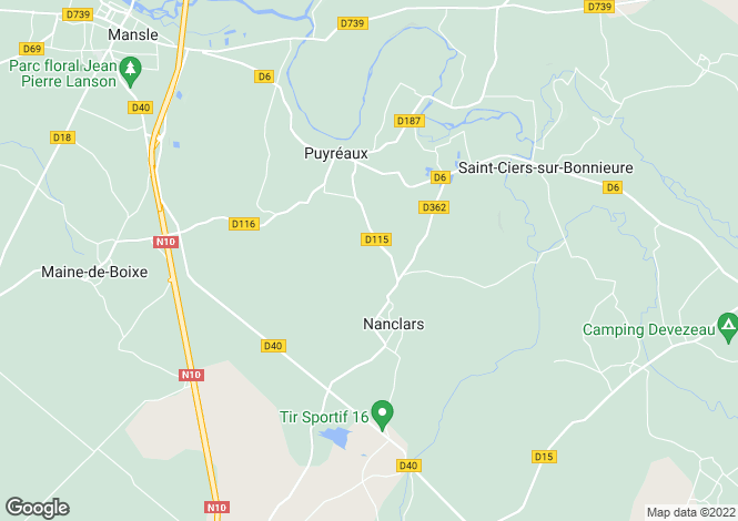 Map for nanclars, Charente, France