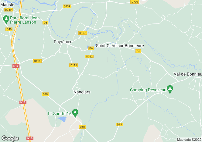 Map for st-ciers-sur-bonnieure, Charente, France