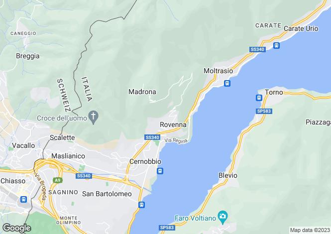 Map for Lombardy, Como, Cernobbio