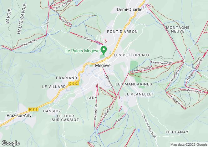 Map for Les Aravis, Megeve, France