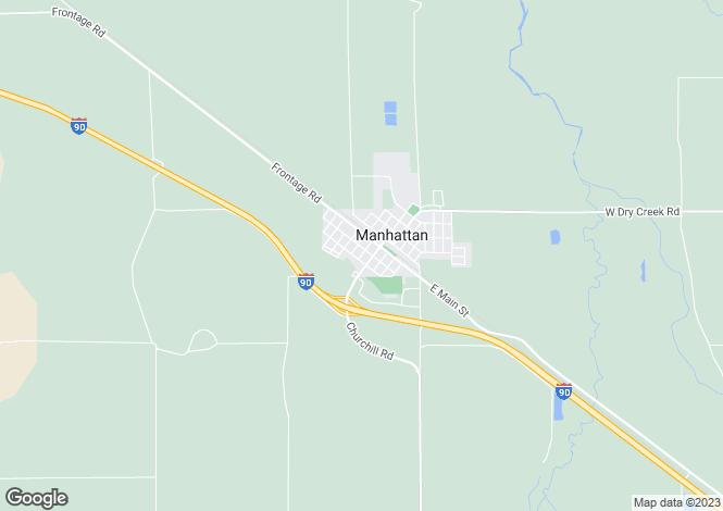 Map for USA - Montana, Gallatin County, Manhattan