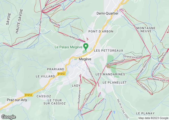 Map for Rhone Alps, Haute-Savoie, Megève