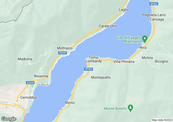 Map for Italy - Lombardy, Como, Como