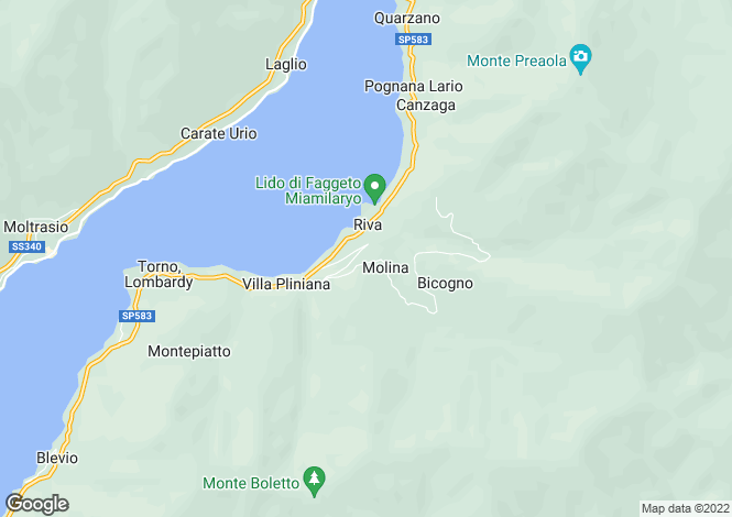 Map for Faggeto Lario, Como, Lombardy