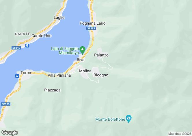 Map for Lombardy, Como, Faggeto Lario