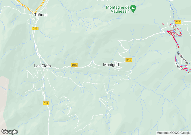 Map for MANIGOD ,France