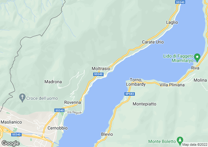 Map for Moltrasio, Como, Italy
