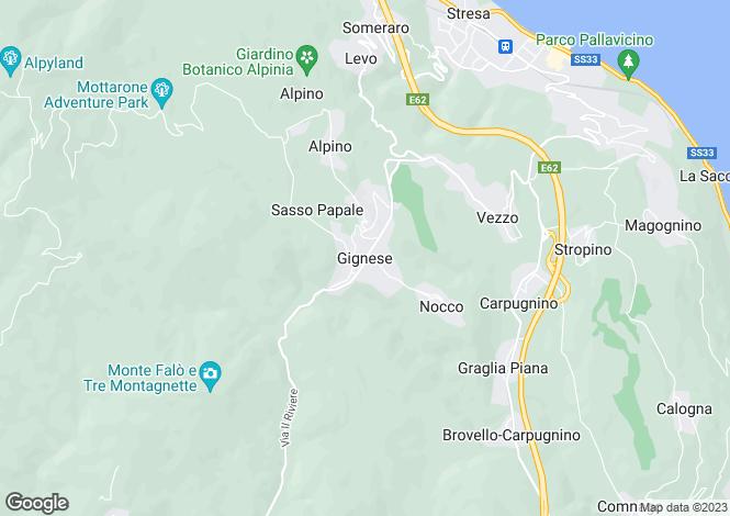 Map for Piedmont, Verbano-Cusio-Ossola, Gignese