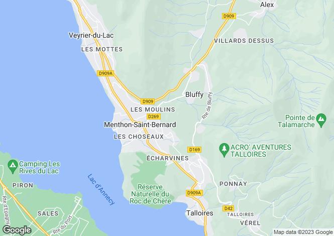 Map for Menthon Saint Bernard,France