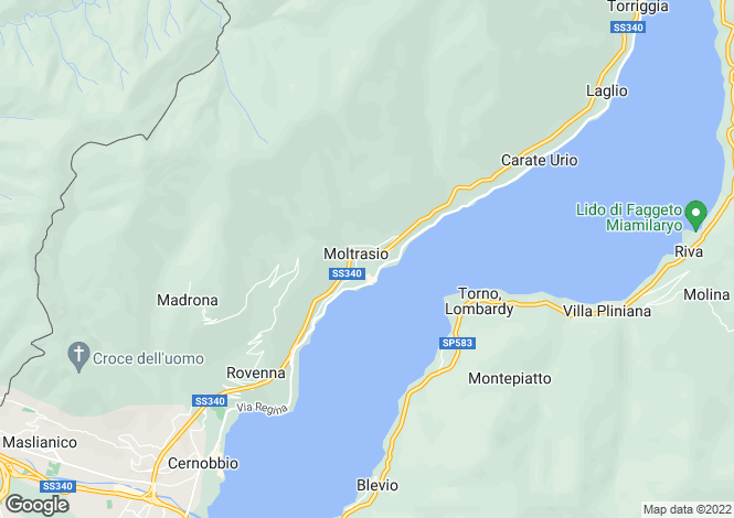 Map for Lombardy, Como, Moltrasio