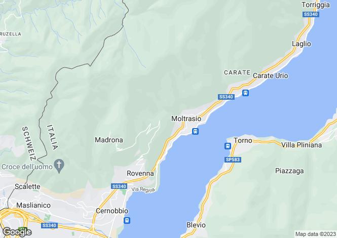Map for Cernobbio, Como, Lombardy