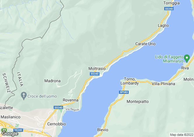 Map for Lombardy, Como, Moltrasio