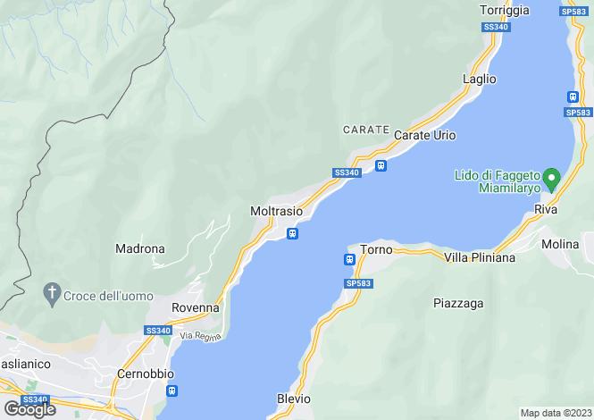 Map for Casa Moltrasina, Moltrasio, Lake Como, Italy
