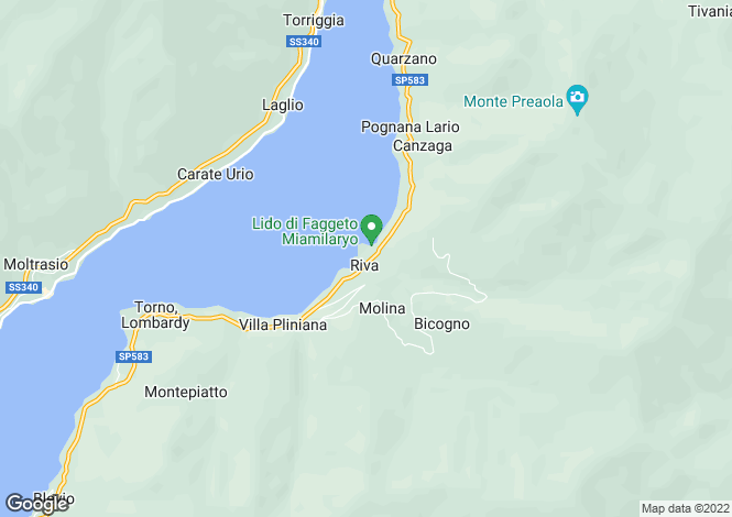 Map for Lombardy, Como, Faggeto Lario