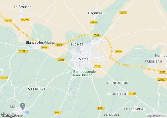 Map for Proche / Near Matha, Charente-Maritime