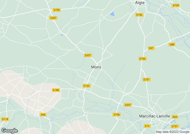 Map for Poitou-Charentes, Charente, Mons