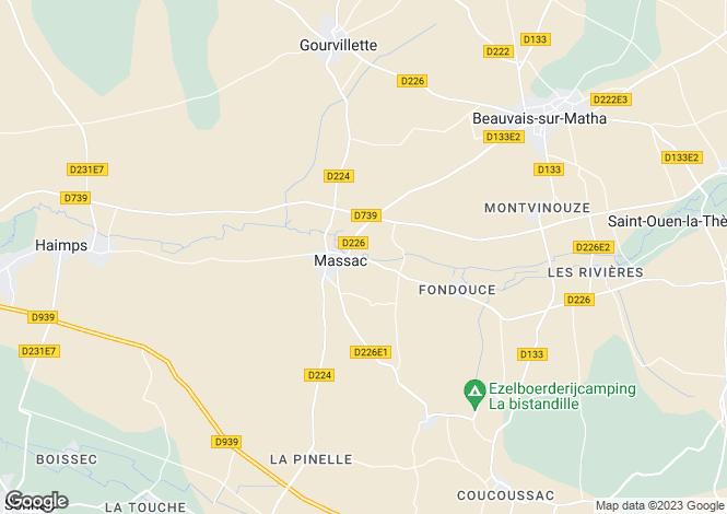 Map for massac, Charente-Maritime, France