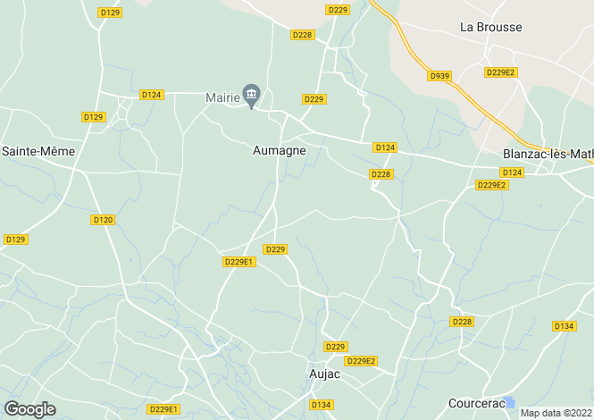 Map for aumagne, Charente-Maritime, France